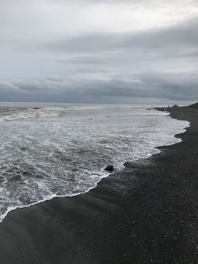 Bali, Indonesia Beach Beauty In Nature Black Sand Cloud - Sky Day Horizon Over Water Nature No People Outdoors Scenics Sea Sky Tranquility Water Wave
