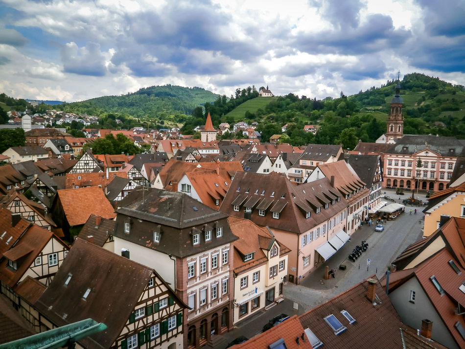 Beautiful town of Gengenbach Architecture Blackforest Building Exterior Cloud - Sky Elevated View Gengenbach Germany Germany Holiday Mountain No People Residential Building Romantic Landscape Town TOWNSCAPE