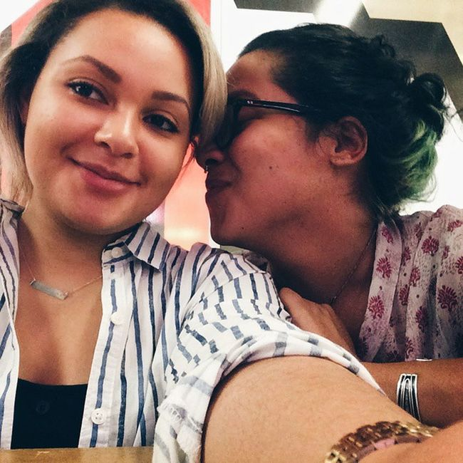 Look how beautiful we were last summer Girlswithtattoos Girlswithgreenhair Girls Paydayfriday vscocam
