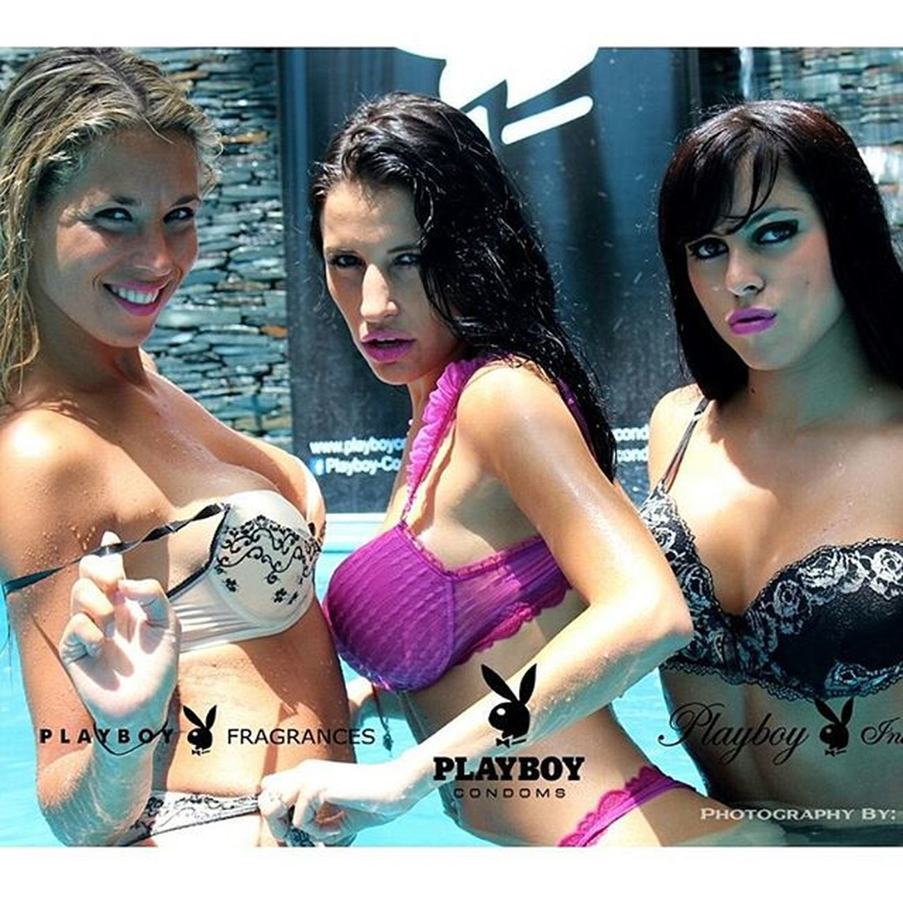 Playboytour Playboylifestyle Pinamar Verano Ph Elsanto Playmates @andrea_anido @lauracattay @_paulacastillo Albar Building Piscina Sun Photodays Summertime Photobomb By  Playboycondoms Playboyintimates Playboyfragrances