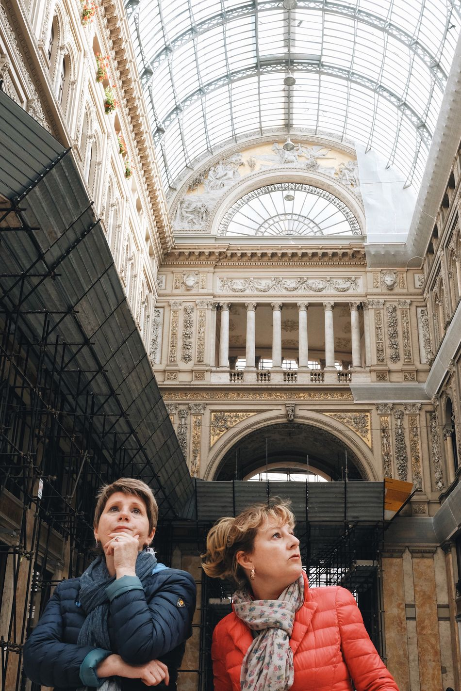 Where's the arcade? Travel Destinations Two People Architecture Travel Tourism Cultures Built Structure City History Tourist People Indoors  Togetherness Real People Dome Day Victorian Style Adult Adults Only