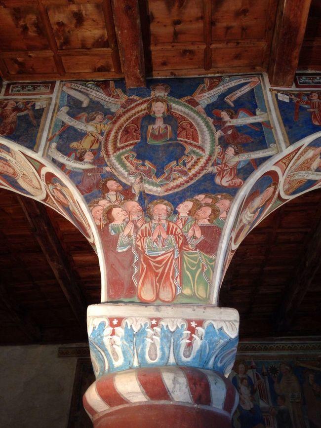 Church of San Carlo in Negrentino Fresco in blue, Architecture