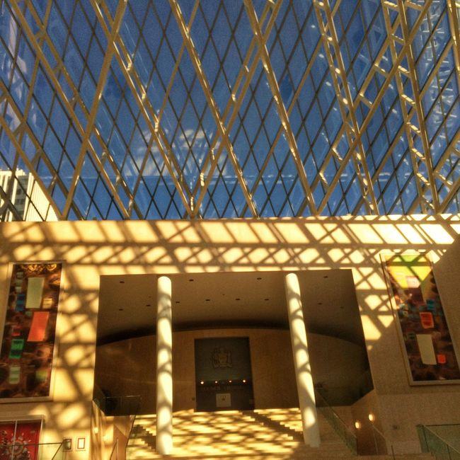 City Hall Pyramid Glass Art Blue Sky