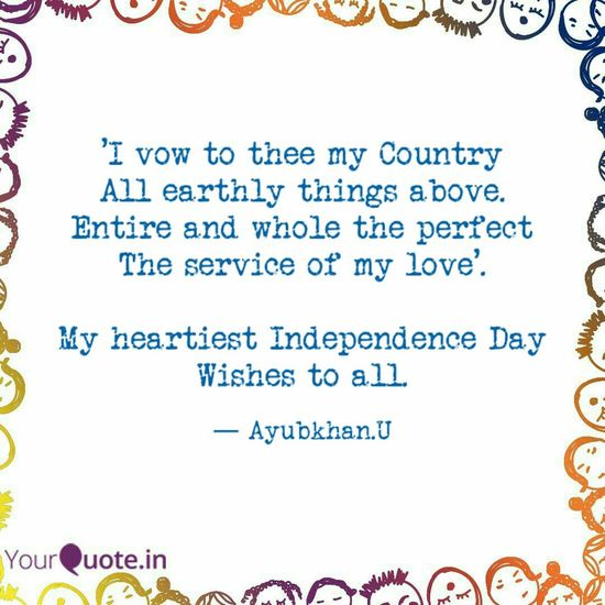 Independence Day of India wishes from Ayubkhan.U