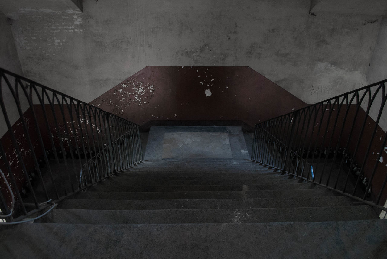 Abandoned Structure - North Italy Abandoned Abandoned Places Abandoned Stairs Abandoned Structure Absence AlessandroCappello Architecture High Angle View Light Old Ruined Shadow Stairs Torino Underexposed Vintage Wall