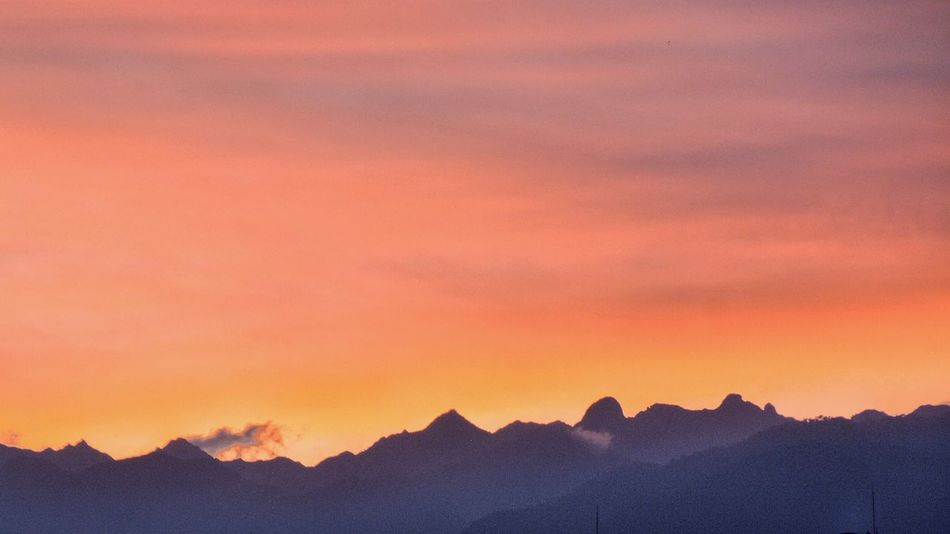 Welcome to Mars. Version N°2. Sunset Orange Color Scenics Mountain Nature Sky Tranquility Silhouette Beauty In Nature Tranquil Scene Idyllic Mountain Range Landscape Outdoors Golden Hour Colombia Art Is Everywhere