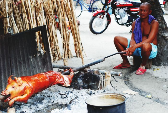 Food On The Go You can call in & have roast pig (lechon) in the Philippines delivered to you Looking Into The Future RePicture Travel My Country In A Photo Here Belongs To Me Live For The Story