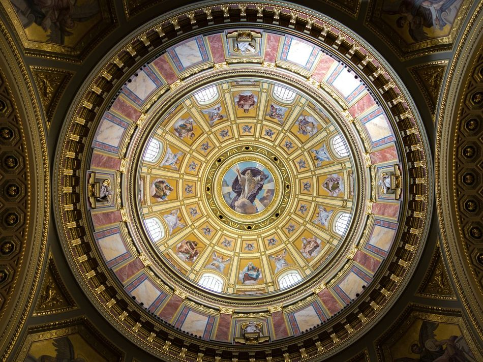 Architecture Concentric Day Dome Fresco Indoors  No People Place Of Worship Religion Travel Destinations