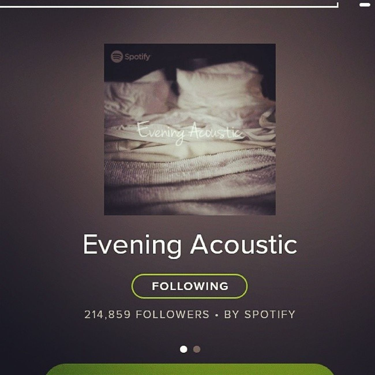 Insomnia. Spotified Eveningacoustic
