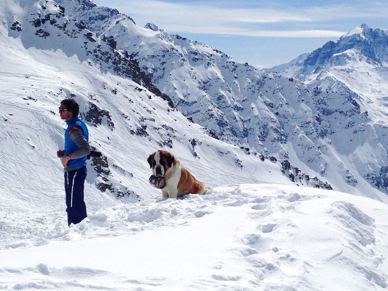 Snow Cold Temperature Mountain Snowcapped Mountain Tourist Vacations Dog Rescuer Rescuers Rescue Lifestyles Non-urban Scene Winter Mountain Range White Color Tourism Travel Beauty In Nature Alps Switzerland Verbier Safeguard Safety Safe Snow Sports