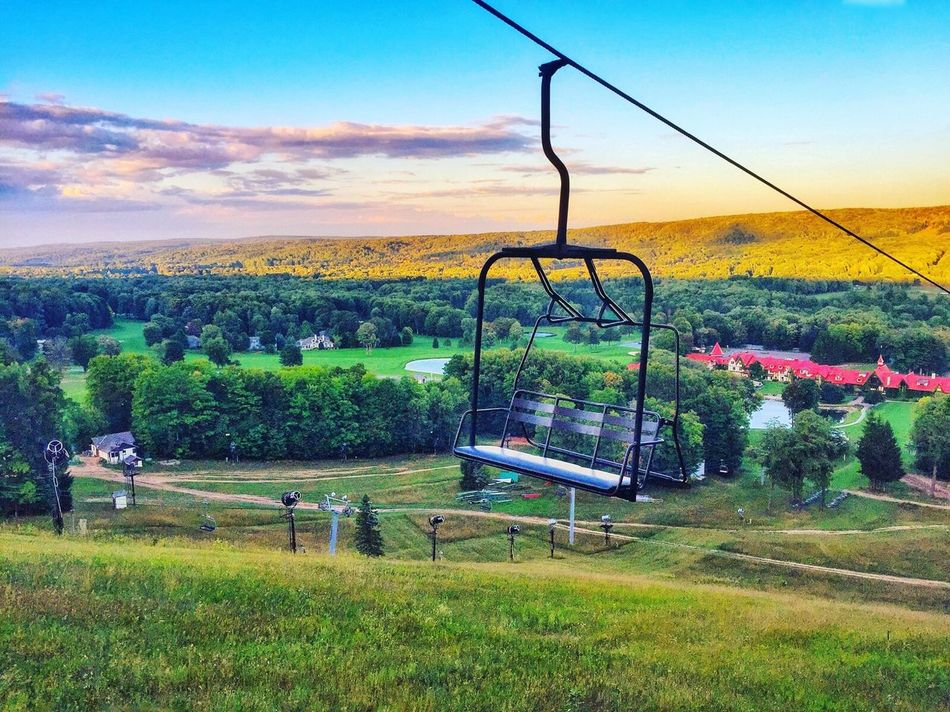 USA Michigan Pure Michigan Fall Fall Beauty Fall Colors Fall Collection IPhone IPhoneography Iphoneonly IPhone Photography Iphonephotography Landscape Chairlift Sunset Beauty In Nature Nature Puremichigan Beauty In Nature Mountain Nature BoyneHighlands Boyneresorts Traveling Chairlift View