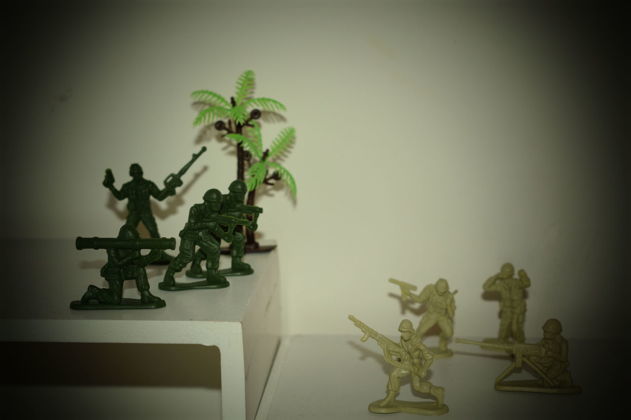 Children Home Interior Indoors  No People Plant Plastic Plastic Soldiers Toys Toystory War