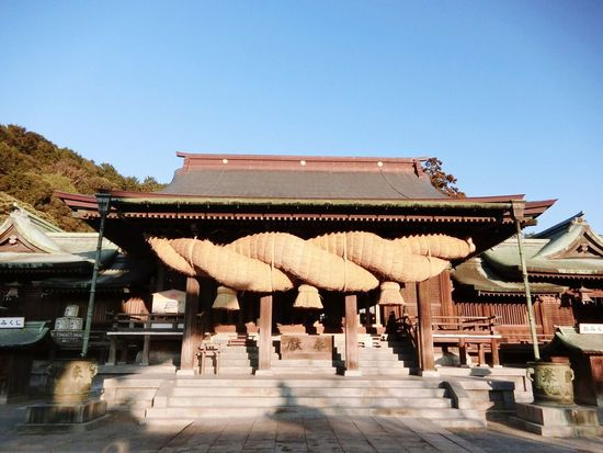 Miyajidake Shrine InJapan Fukuoka History No People Clear Sky Outdoors ♡