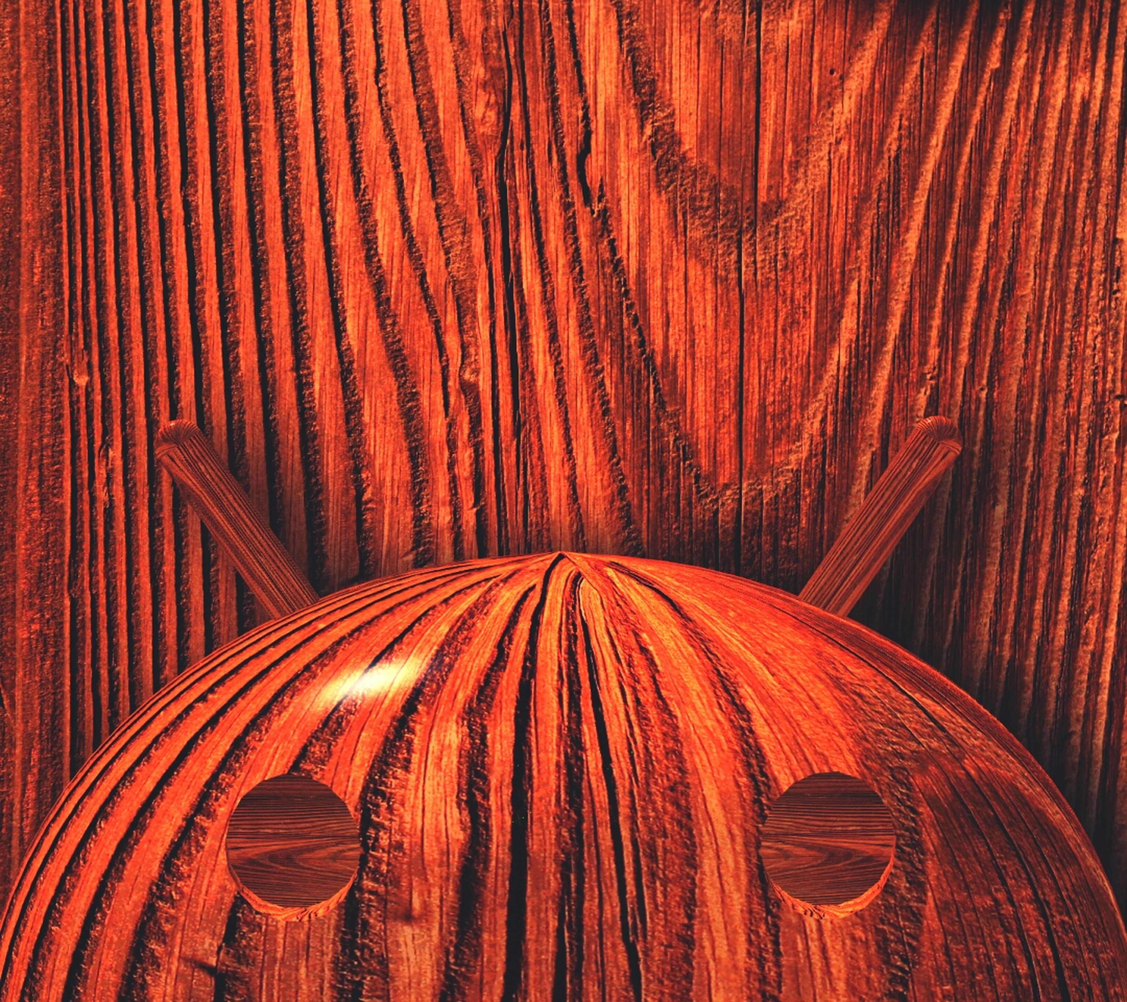 full frame, pattern, backgrounds, wood - material, indoors, textured, art and craft, close-up, design, brown, orange color, art, red, creativity, wood, wooden, no people, part of, wall - building feature, detail