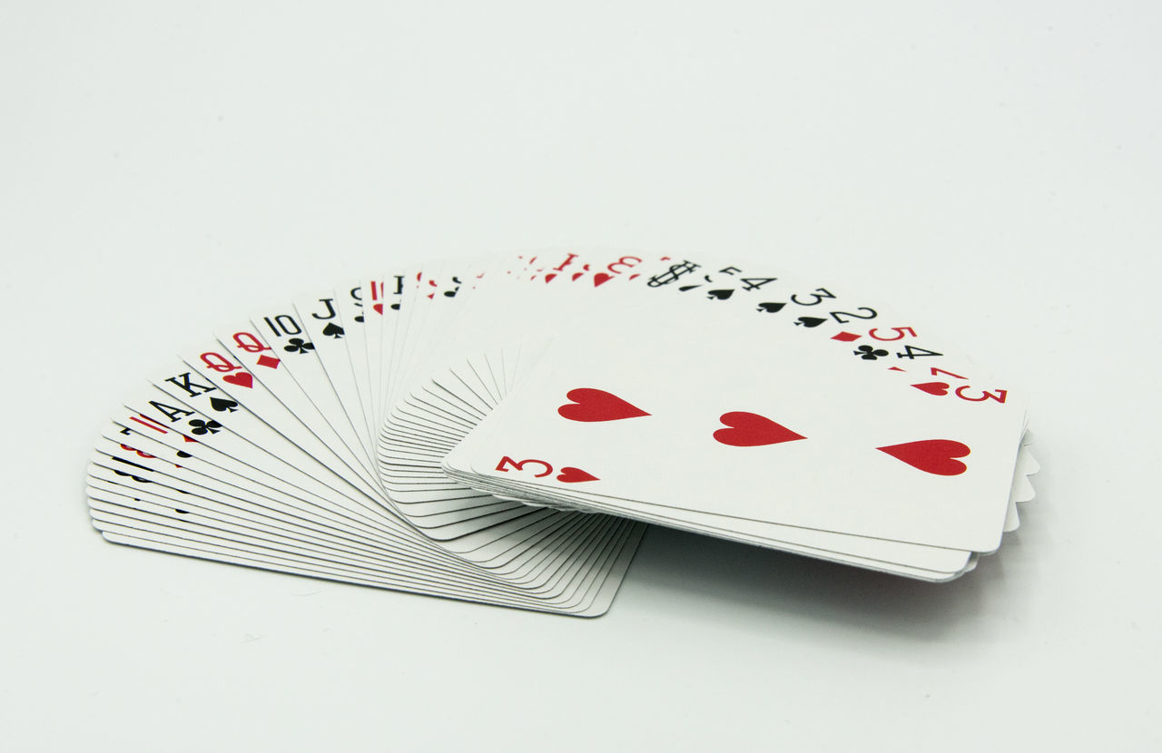 Cards Chance Close-up Day Gambling Gambling Chip Heart Shape Indoors  Leisure Games Luck No People Poker - Card Game Red White Background
