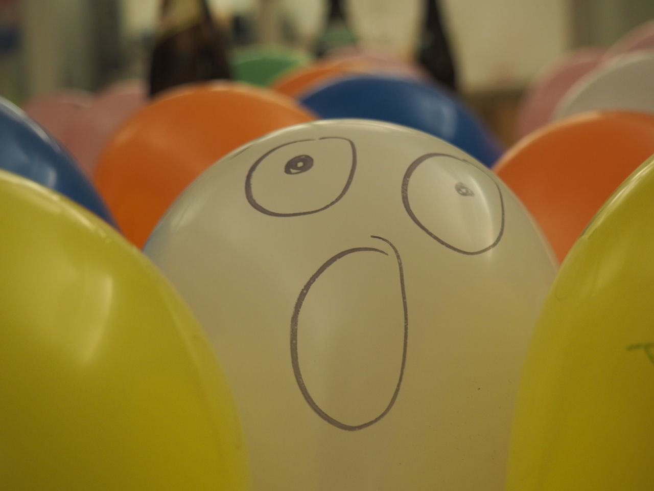 Balloon overflow Balloon Balloonart Balloonfiesta  Ballooning Festival Balloons Balloons🎈 Busy Close-up Color Colors Crowded Emoji Funny Indoors  No People Scared Smile