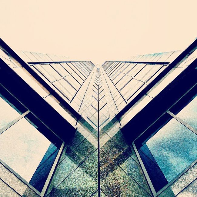 Mirrored architecture.