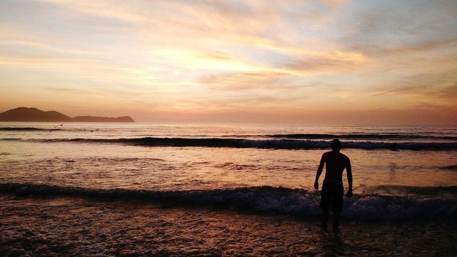 Sunrise And Clouds Silhouette Brazilianbeach The Great Outdoors - 2016 EyeEm Awards EyeEm Ready
