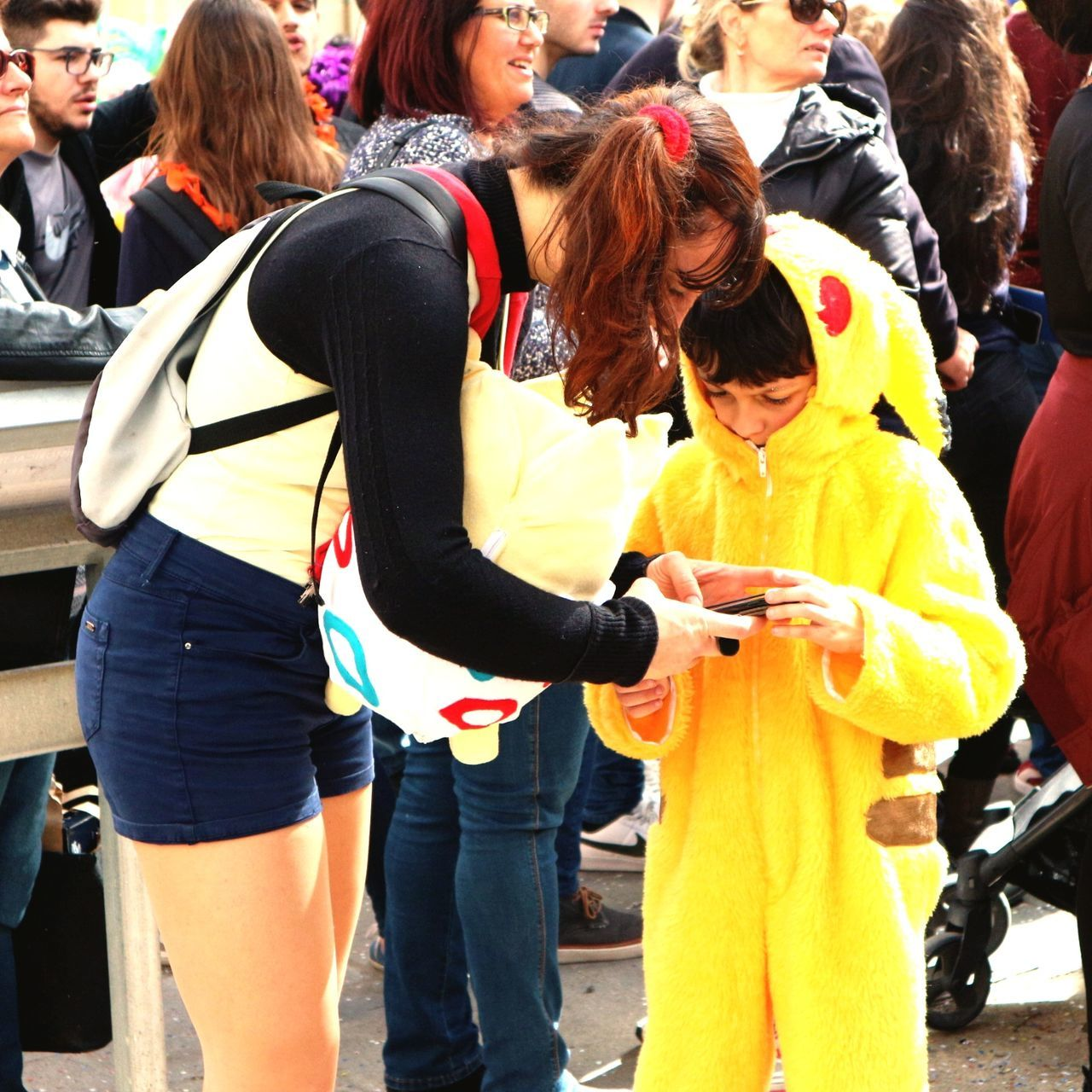 Carnival Crowds And Details Cultures Outdoors People Day Pokémon Pikachu Crowd Comic Canon M10