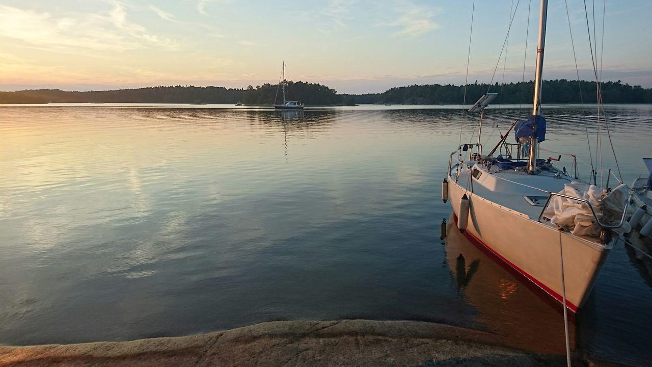 Sailing Stockholm Archipelago Albín Summer Summertime Rocks Rocks And Water Sunset Outdoors