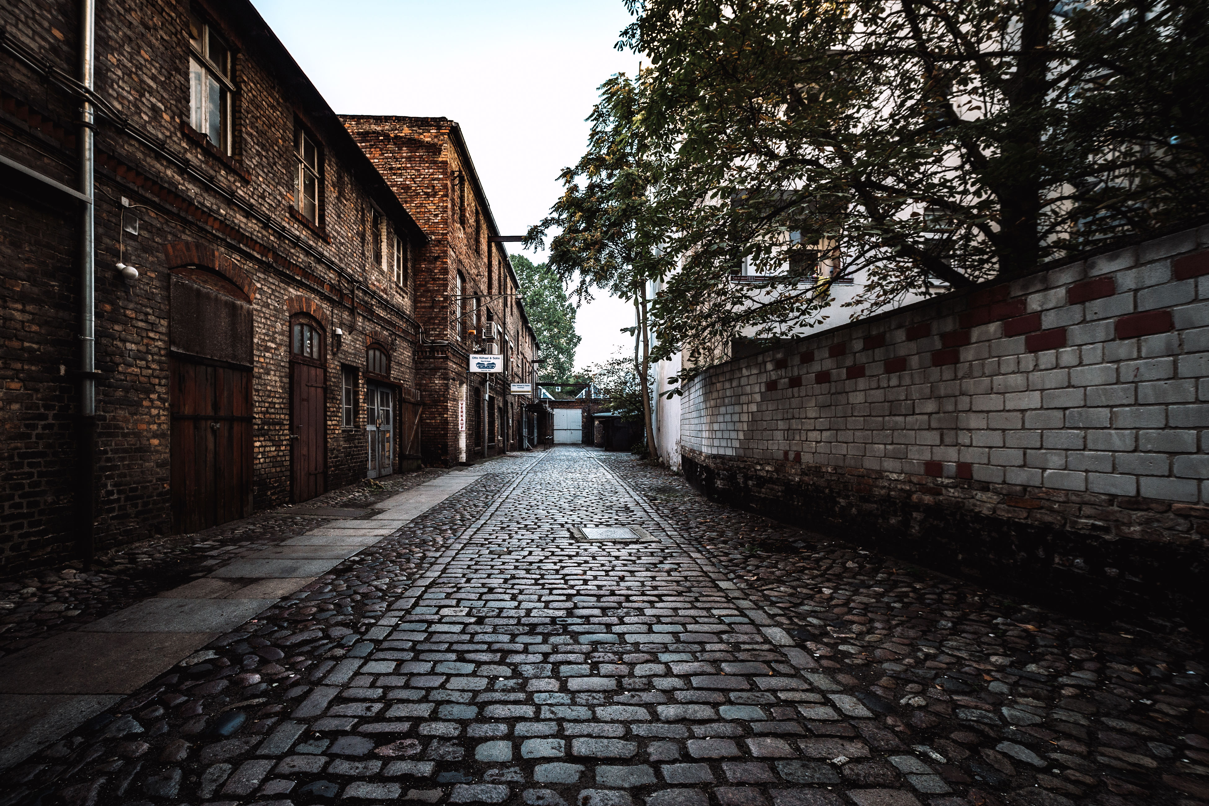 cobblestone, architecture, built structure, building exterior, street, surface level, the way forward, narrow, paving stone, day, sky, long, diminishing perspective, no people, cobble stone, cobbled