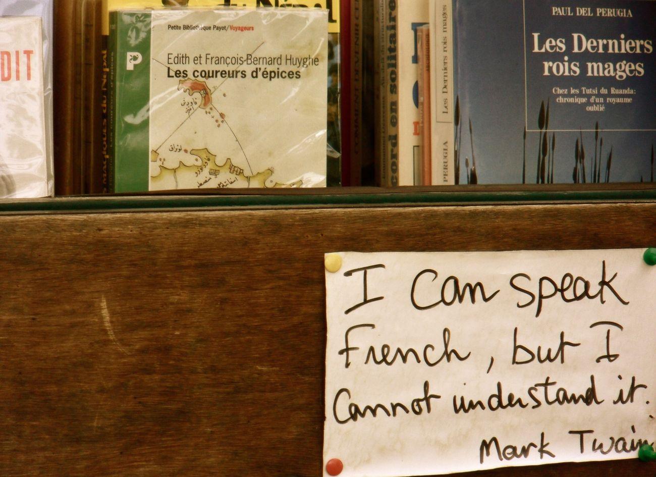 Paris . France . Can't Speak French . Mark Twain . Books . Fleemarket . EyeEmNewHere