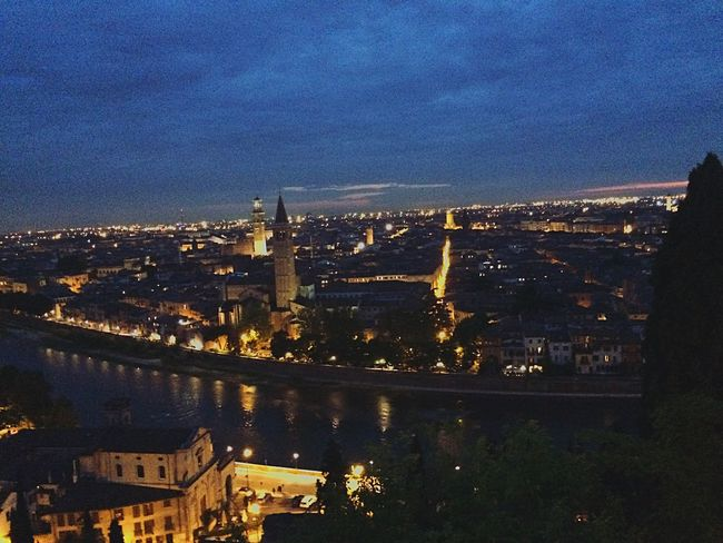 What Else? Verona Nightphotography Night Lights Lumière Riverside River View Hill Top Uphill Roofs Cityscapes City Life Verona In Love Magic