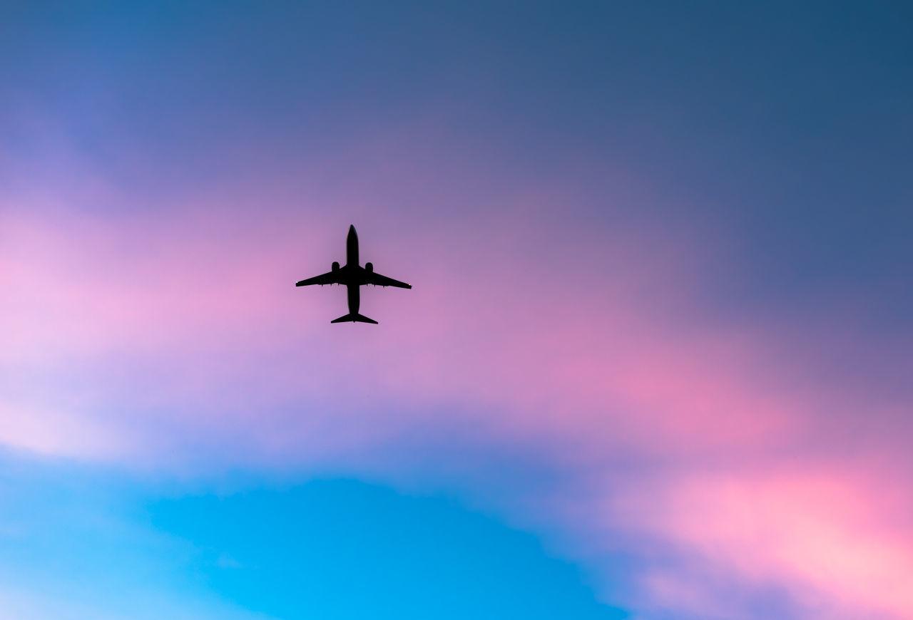 Beautiful stock photos of goodbye, Air Vehicle, Airplane, Blue, Cloud - Sky