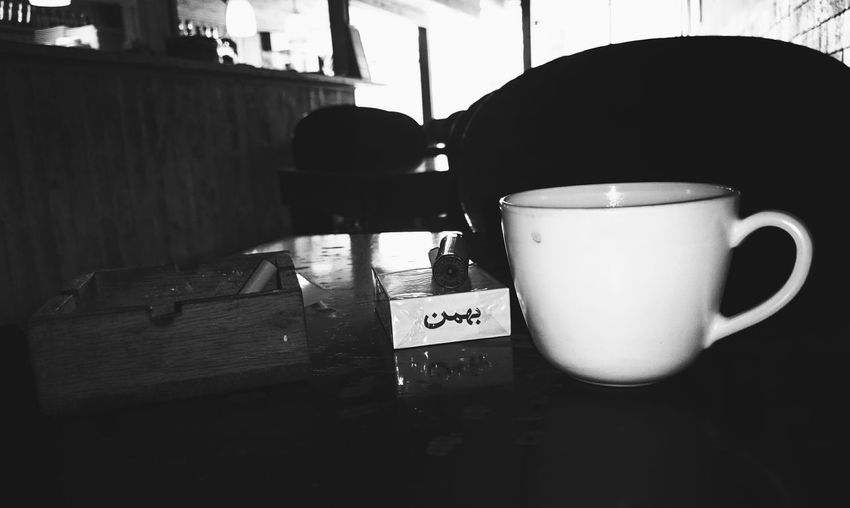 Black And White Coffee And Cigarettes Cafe