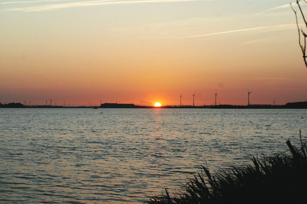 Sunset boulevard Beach View Sunset Enjoying Life Harderwijk Netherlands