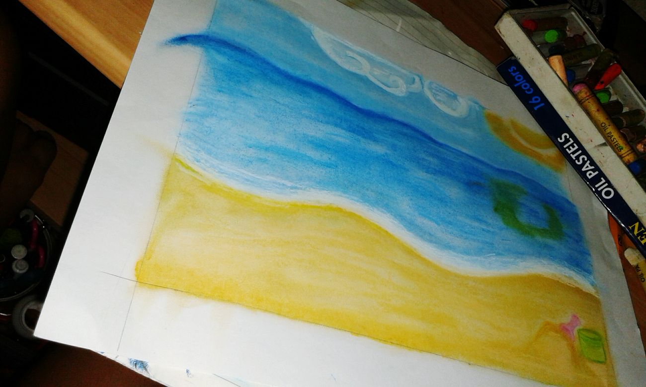 Unfinished Impressionism Simple Art Art Beach Pastel
