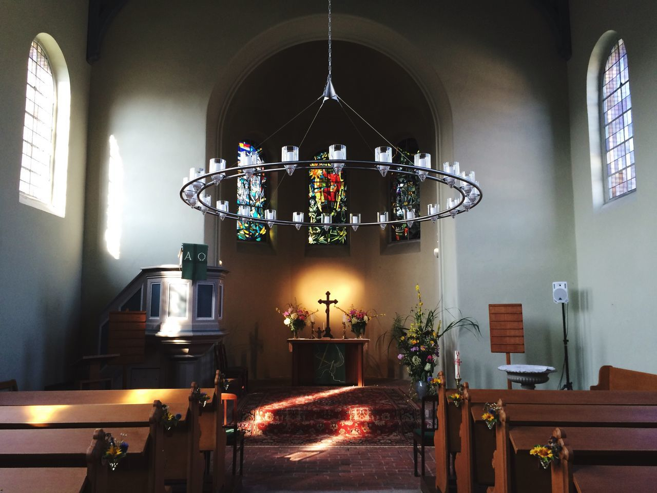 There by the Grace of god Church Architecture Symmetry Cross Vitraux Sunday Morning Köpenick Preaching Old Building  Interior Architecture Lights Sunbeam EyeEm Of The Week