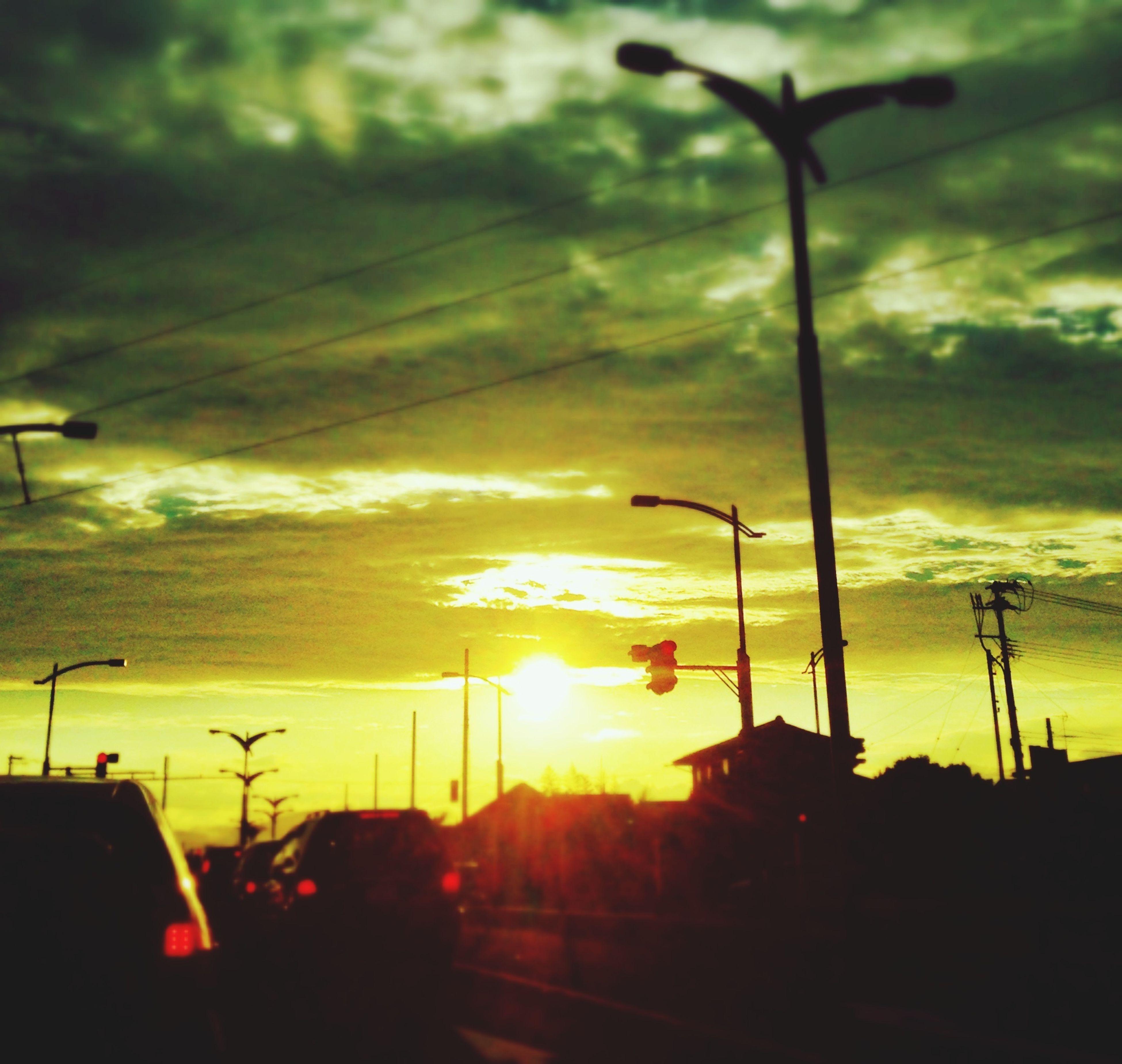 2014.08.12 夕刻。 Sunset Silhouettes Summer Japan Clouds And Sky