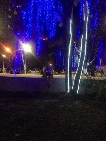 Night Illuminated Winter Outdoors Cold Temperature Full Length People
