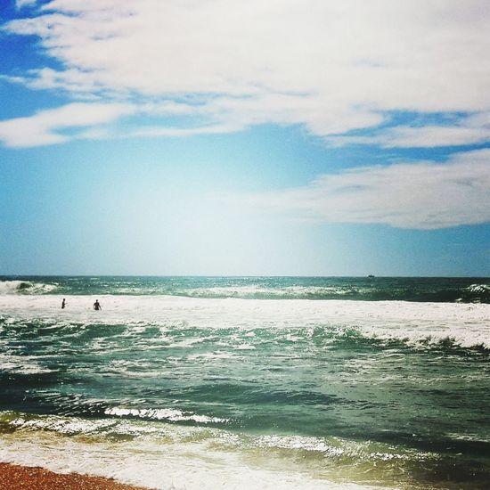 Ciel Et Nuages Skyblue Ete 2015 Grandcrohot Paradise Beach Plage Soleil Cloudy Vagues Sable