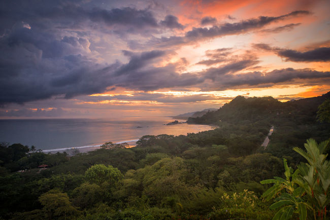 The Great Outdoors - 2016 EyeEm Awards Domicalito Costa Rica Ocean View Sunset Clouds And Sky Beautiful Colors Nature Mountains Sea And Sky Vacation Natural Beauty Enjoying The View