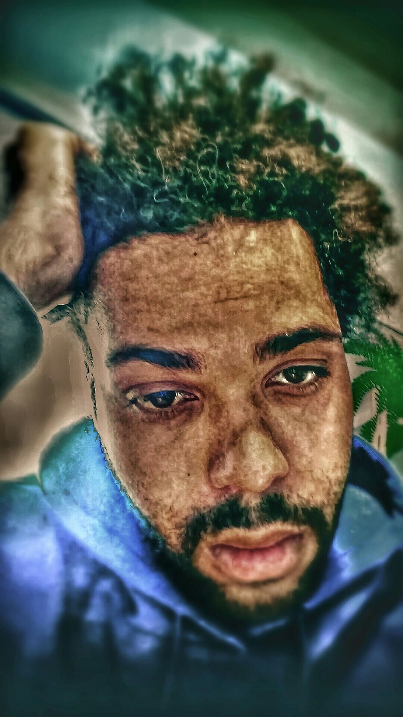 How i see myself right now thru these high eyes Pyschedelic Selfportrait Rustic Style High Bordem  Hair Lifestyle Still Life