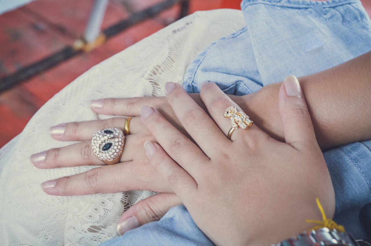 Casual Clothing Close-up Cropped Day Finger Focus On Foreground Hand Human Finger Leisure Activity Lifestyles Part Of Person Personal Perspective Ring Showing Unrecognizable Person