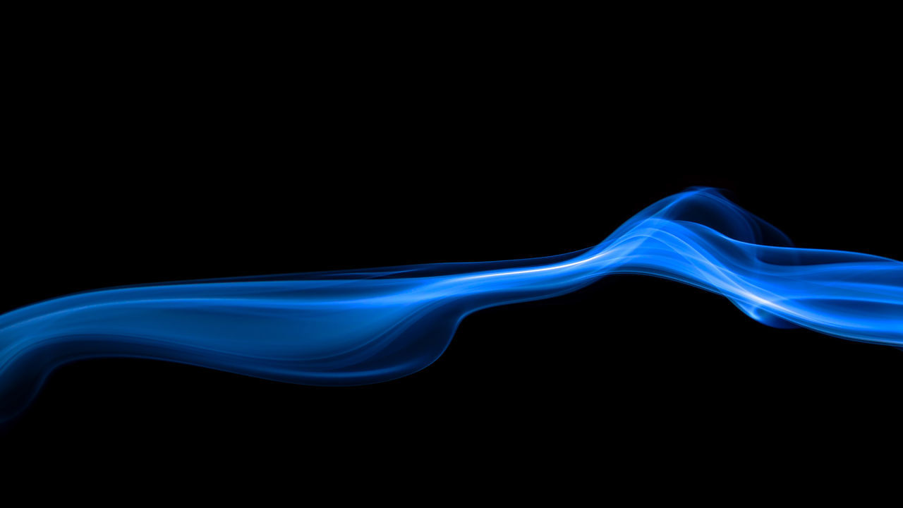 Abstract Backgrounds Blue Blue Sky Burning Ethereal Flowing Fragility Motion Multi Colored No People Pattern Shape Smoke - Physical Structure Smooth Studio Shot Technology EyeEmNewHere