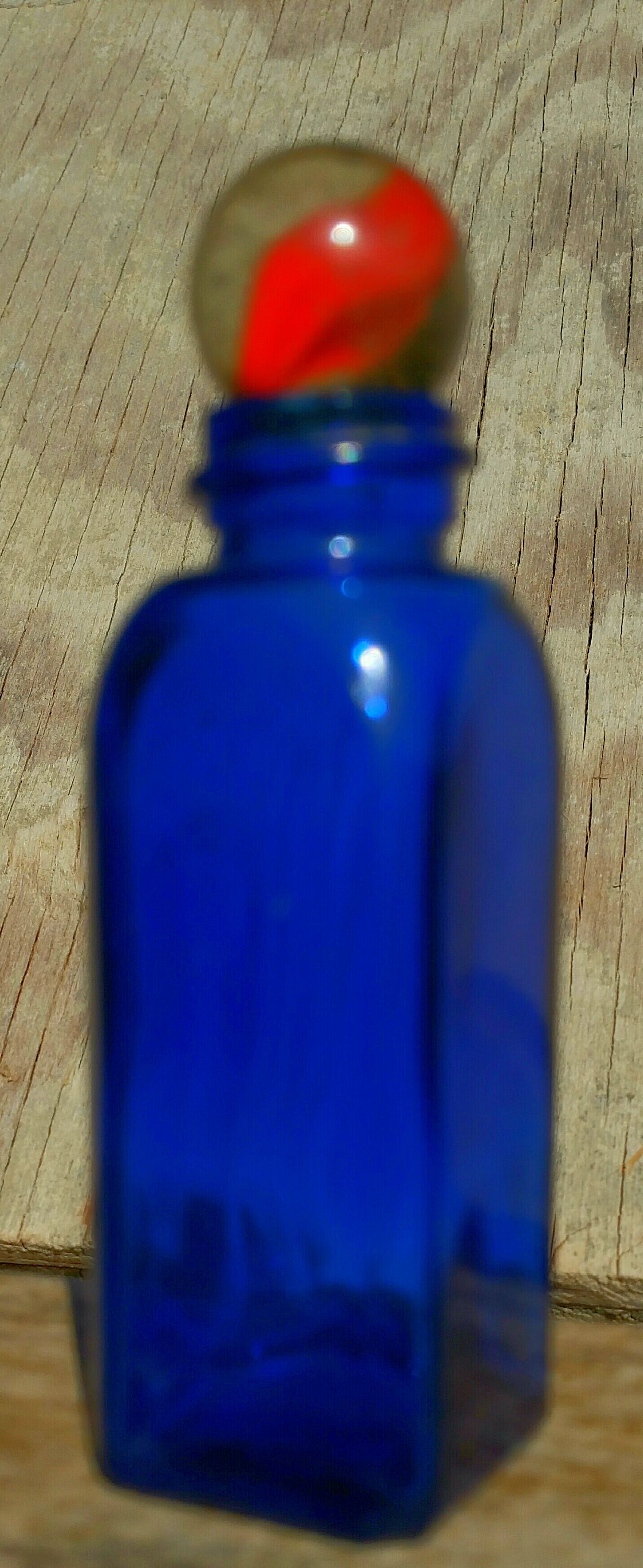 Blue Wave Blue Bottle Orange Striped Marble Toys Antique Blue Bottle Vintage Bottle Vintage Toys Old Bottle Cobolt Blue Cobolt Glass Old Colbolt Bottle Vintage Colbolt Blue Bottle Old Glass