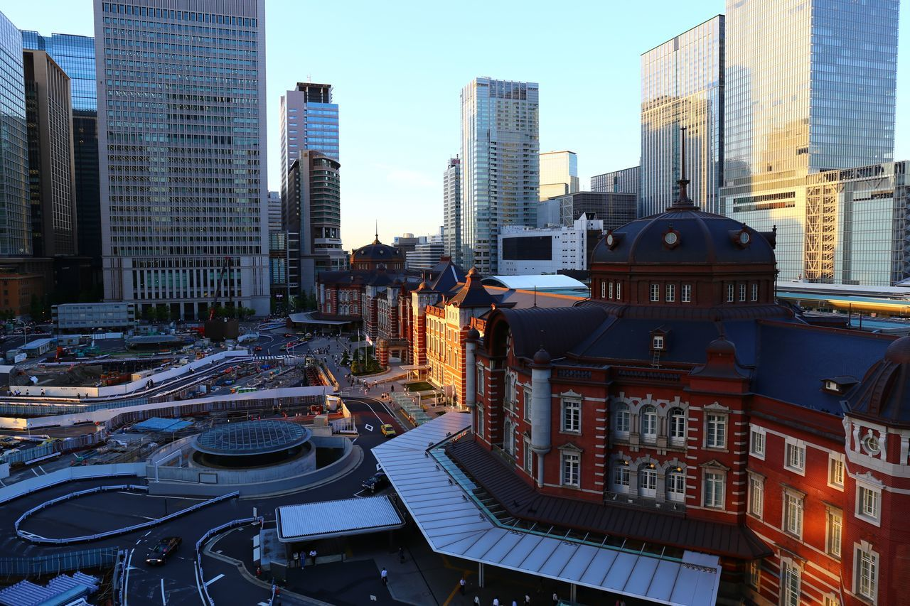 2015  Architecture City Cityscape Downtown District Japan Sky Skyscraper Tokyo Tokyo Station Urban Skyline 東京駅 Day Sun