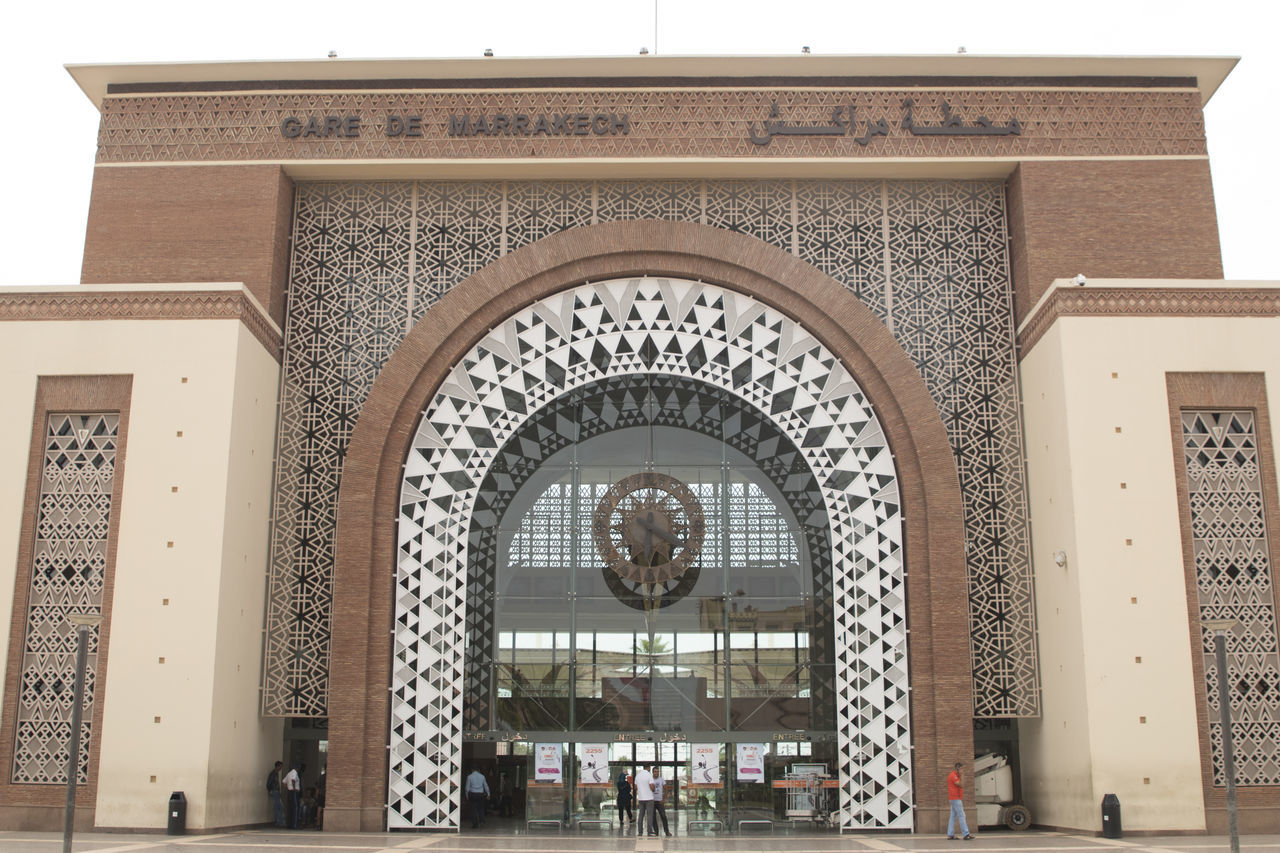 estacion de tren de marrakesh Building Exterior Clock Estación Central Marrakech Morocco Station Train