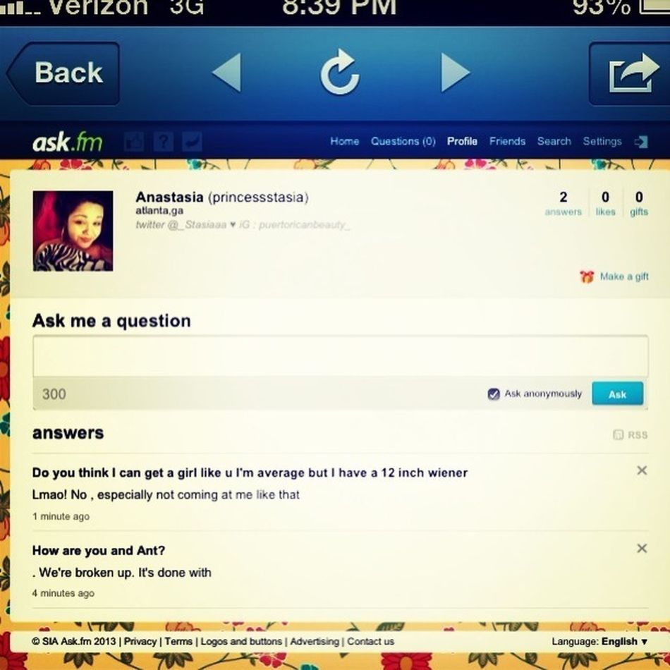 Ask Me Anything Http://ask.fm/princessstasia