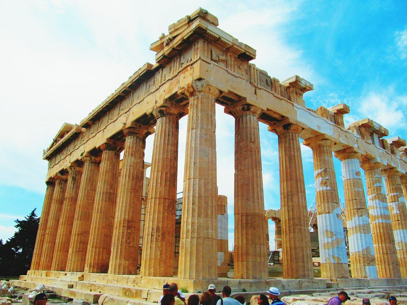 Parthenon Acropolis Greece Old Ruin Architectural Column History