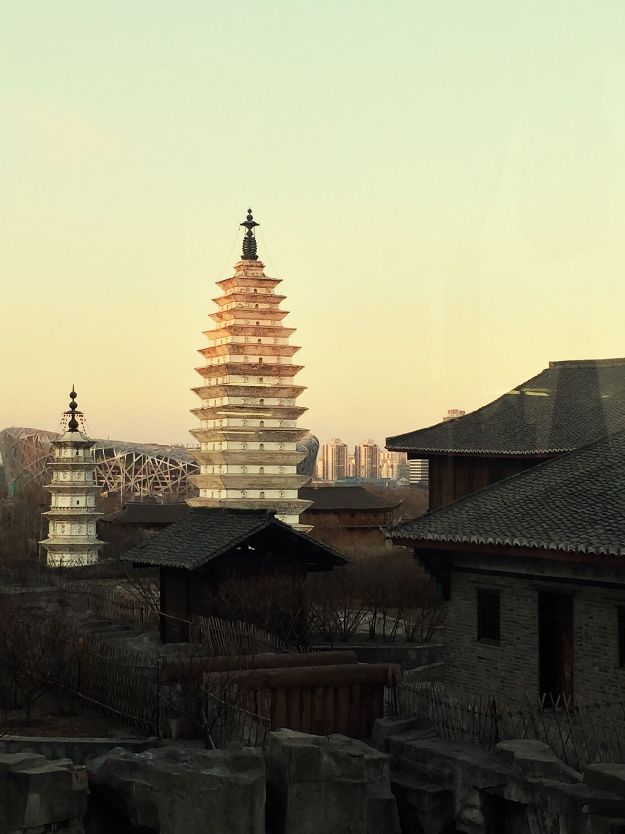 Architecture Built Structure Building Exterior No People City Place Of Worship Outdoors Sky Sunset Day