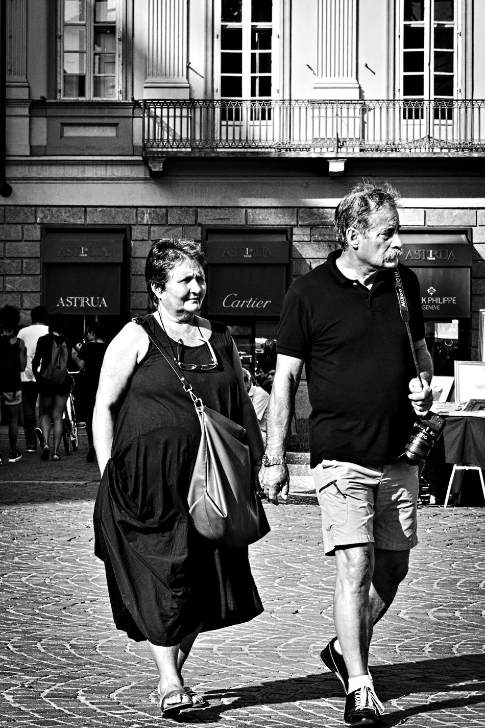 Everlasting love. Adult Black And White Black And White Photography Bnw City City Life Everlasting Love Lifestyles Love Marriage  married couple Outdoors People Person Real People Senior Adult Street Street Life Street Photography Togetherness Torino Italy Turin Turin Italy Walking People Monochrome Photography