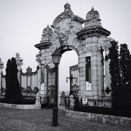 Architecture Built Structure Building Exterior Outdoors Sky History Architectural Column Statue Sculpture Day No People Wrought Iron Wrought Iron Gates Wrought Iron Design Wrought Iron Fencing Budapest Budapest, Hungary Traveling Travel Travel Photography