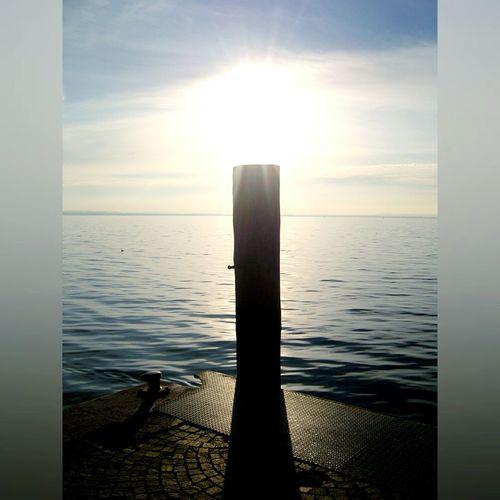 Water Lake View Lake Column Shadow Sun Sunrise Sunset Sunshine Italia