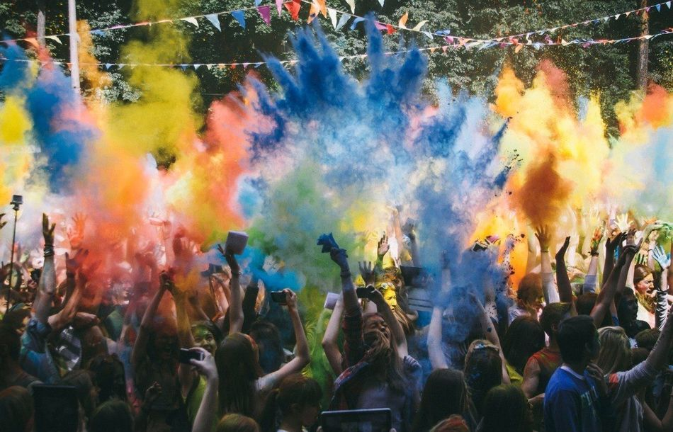 Beautiful stock photos of group, Celebration, Colorful, Crowd, Dancing