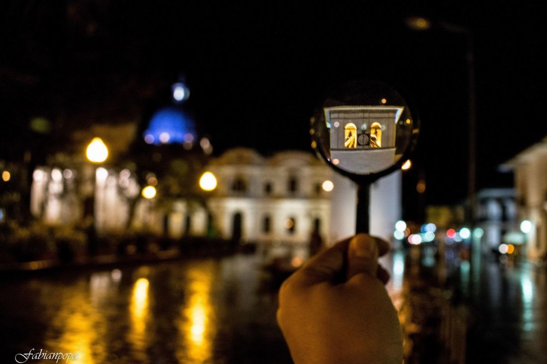 Popayán Architecture Night Illuminated Building Exterior Colombia Travel Destinations Reflection